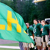 WARREN DILLAWAY / Star Beacon<br /> LAKESIDE DRAGONS  wait to enter the field during the National Anthem on Friday night prior to a home game with Jefferson.
