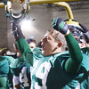 WARREN DILLAWAY / Star Beacon<br /> MATT ROCCO of Lakeside celebrates after  the Dragons defeated Jefferson at Lakeside on Friday evening..