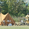 WARREN DILLAWAY / Star Beacon<br /> A SMALL World  War II re-enactment was staged on Saturday at Walnut Beach in Ashtabula.