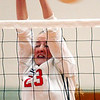 WARREN DILLAWAY / Star Beacon<br /> ALYSSA JOHNSON of Edgewood narrowly misses a block Monday night during a home match with Jefferson.