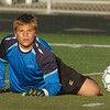 WARREN DILLAWAY / Star Beacon<br /> JACOB CRUZ, Lakeside goalie, watches the ball on Tuesday during a home match with Geneva.