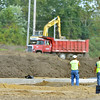 WARREN DILLAWAY / Star Beacon<br /> THE CONNEAUT High School track is starting to take form across the street from the football stadium.