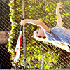WARREN DILLAWAY / Star Beacon<br /> ALLISON MASSARO of Edgewood serves on Thursday during a tennis match at Conneaut.