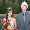 WARREN DILLAWAY / Star Beacon<br /> MATT SILVERS and Kayla Hahneman were crowned Pymatuning Valley homecoming king and queen Friday night prior to the Pymatuning Valley-Conneaut football game.