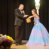 WARREN DILLAWAY / Star Beacon<br /> EMILY DEERING picks a question from a hat held by  Miss Grapette Master of Ceremonies Jeff Fanchek on Saturday night at Geneva High School. Deering was later crowned Miss Grapette.