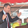 WARREN DILLAWAY / Star Beacon<br /> U.S. SENATOR Sherrod Brown gives a speech during a visit to Plant C in Ashtabula Township on Monday. Connie Schultz, Brown's wife grew up in Ashtabula and her father worked in the plant for more than 30 years.