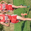 WARREN DILLAWAY / Star Beacon<br /> CHRIS LEMAY (left) and his twin brother Josh, both of Edgewood, earned first and second place honors on Tuesday during the Ashtbula County Cross Country Meet at Edgewood.