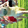WARREN DILLAWAY / Star Beacon<br /> DYLAN ACKLEY of Lakeside  sprints to the finish line of the Ashtabula County Meet on Tuesday at Edgewood.