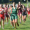 WARREN DILLAWAY / Star Beacon<br /> ABBY LICATE of Lakeside (center front) leads a group of runners on Tuesday during the Ashtabula County Cross Country Meet at Edgewood.