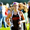 WARREN DILLAWAY / Star Beacon<br /> COLLEEN  O'CONNOR of Jefferson sprints to the finish line of the Ashtabula County Cross Country Meet at Edgewood on Tuesday afternoon.