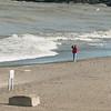 WARREN DILLAWAY / Star Beacon<br /> WAVES CRASH to the shore at Conneaut Township Park Tuesday morning.