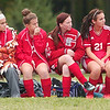 WARREN DILLAWAY / Star Beacon<br /> BRIAN O'DELL, Geneva girls soccert coach, sits on the bench with his team during a home match Tuesday with Geneva.