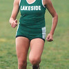 WARREN DILLAWAY / Star Beacon<br /> KAREN BARRIENTOS of Lakeside finished second during the Ashtabula County Cross Country Meet Wednesday afternoon at Lakeshore Park in Ashtabula Township.