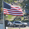 WARREN DILLAWAY / Star Beacon<br /> A STEADY breeze kept the American flag outstretched on Friday in Ashtbula Harbor.