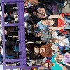 WARREN DILLAWAY / Star Beacon<br /> GRAPE JAMBOREE judges and watch the parade from a wooden scaffolding Saturday during the 49th Grape JAMboree in downtown Geneva.