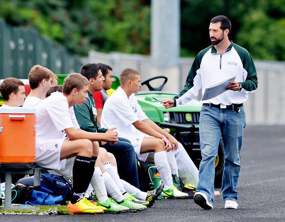 WARREN DILLAWAY / Star Beacon<br /> ANDREW AUSTIN is the new Lakeside soccer coach.