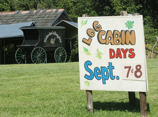 WARREN DILLAWAY / Star Beacon<br /> THE LOG Cabin Days will kick off Saturday morning at the Blakeslee Log Cabin in Plymouth Township.