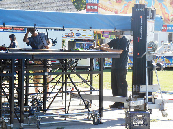DEVASTASHA BEAVER / Star Beacon<br /> THUNDER ON The Strip preparation was in full gear late Thursday afternoon as workers set up a large stage for entertainment for the event which will conclude Sunday.