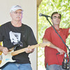 WARREN DILLAWAY / Star Beacon<br /> GARY PHILLIPS and Nick Carlisle make music with the Lost Sheep Band on Friday afternoon during Thunder on the Strip at Geneeva-on-the-Lake.