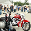 WARREN DILLAWAY / Star Beacon<br /> MOTORCYCLISTS AND their bikes jammed  Geneva-on-the-Lake for the Thunder on the Strip Bike Rally on Saturday.