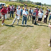 WARREN DILLAWAY / Star Beacon<br /> GREG JOHNS, station manager at the Ashtabula Agricultural Research Station in Kingsville Township, opens Ohio Grape and Wine Day Thursday.