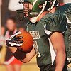 WARREN DILLAWAY / Star Beacon<br /> CHASE  KNIGHT of Lakeside tries to find running room Thursday night during a home game with Howland.