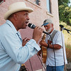 WARREN DILLAWAY / Star Beacon<br /> RON GREEN (left) and Al Bonnis of  Miles Beyond play at the Wine and Walleye Fest Saturday on Ashtabula's Bridge Street.