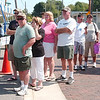 WARREN DILLAWAY / Star Beacon<br /> FISH SANDWICHES drew many people to the Wine and Walleye Fest Saturday in Ashtabula.