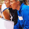 WARREN DILLAWAY / Star Beacon<br /> BRYNN RYAN (right), Madison volleyball coach, and her assistant Jackie Farina watch the action Thursday at Geneva.