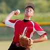 WARREN DILLAWAY / Star Beacon<br /> COLTEN WILBER of Jefferson pitches against Geneva United during Junior League All Star action at Havens Complex in Jefferson Township Thursday evening.