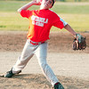 WARREN DILLAWAY / Star Beacon<br /> MATEO SNYDER of the Ashtabula 9 and 10 year old All Stars pitches Monday evening against Geneva United  at Carraher Field in Geneva during a District 1 championship game.