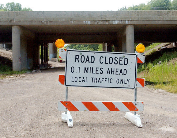WARREN DILLAWAY / Star Beacon<br /> MOTORISTS HAVE been inconvenienced for many weeks as construction on a $44 million bridge over Interstate 90 has taken longer than anticipated.