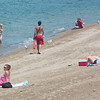 WARREN DILLAWAY / Star Beacon<br /> LIFEGUARDS WARNED potential swimmers of elevated bacteria levels and of the possible presence of blue green algae Friday at Lake Shore Park in Ashtabula Township.
