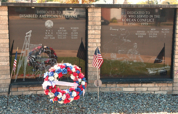 WARREN DILLAWAY / Star Beacon<br /> THE ASHTABULA Veteran's Memorial will be one of the stops on a 911 memorial walk Tuesday afternoon in Ashtabula.