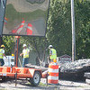 WARREN DILLAWAY / Star Beacon<br /> NORFOLK AND Southern Railroad personnel work at the Route 534 intersection in Geneva Monday afternoon.