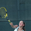 WARREN DILLAWAY / Star Beacon<br /> KAYLA JOHNSTON of Lakeside serves Thursday during a second singles home match with Jefferson.