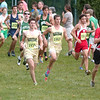 WARREN DILLAWAY / Star Beacon<br /> BRANDON LOPEZ (1963) and Lakeside teammate Brady Bunnell (1955) race with a group of runners Saturday during the U Wanna Come Back Invitational at the Perry Outdoor YMCA Saturday.