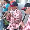 WARREN DILLAWAY / Star Beacon<br /> ANDY VERES (right) and John Trush of the Progressive Field Dixie Land Band perform Saturday at The Great Geauga County Fair in Burton Township.