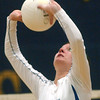 WARREN DILLAWAY / Star Beacon<br /> ASHLEY HIXON of Madison sets the ball Tuesday night at Conneaut's Garcia Gymnasium.