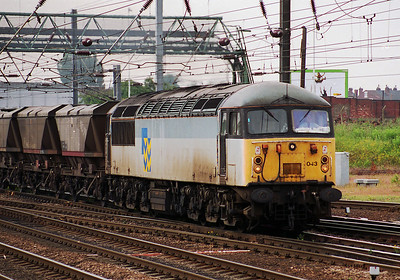 Class 56  56043 approaches Doncaster Station