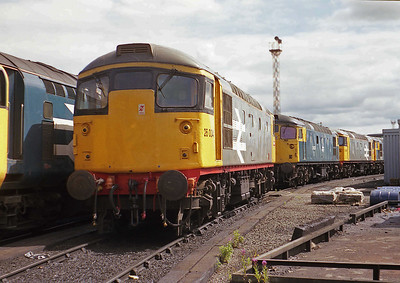Class 26  26004 at Millerhill Depot on 02/08/1987
