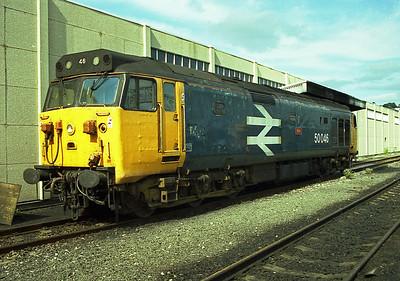 Class 50  50046 at Laira Depot