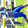 WARREN DILLAWAY / Star Beacon<br /> CHAR MILLER of Grand Valley takes a mighty swing on Saturday during a home game with Lakeside.