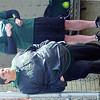 JODI CANDELA, Lakeside softball coach, and assistant Pete Davis watch a game at Grand Valley on Saturday afternoon.