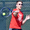 WARREN DILLAWAY / Star Beacon<br /> ERIC SIMON plays third singles for Jefferson on Monday at Lakeside.