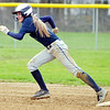 WARREN DILLAWAY / Star Beacon<br /> LEXI ZAPPITELLI of Conneaut gets a jump off second base on Thursday during a game at Grand Valley.