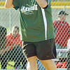 WARREN DILLAWAY / Star Beacon<br /> JODI CANDELA, Lakeside softball coach, gestures to a batter on Friday during a game at Geneva.