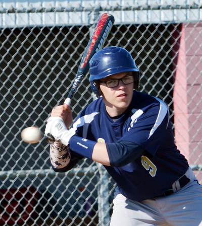 WARREN DILLAWAY / Star Beacon<br /> TYSON HUNT of Conneaut watches a pitch go by on Friday afternoon during a game at Edgewood.