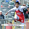 WARREN DILLAWAY / Star Beacon<br /> SAHIL PATEL of Edgewood competes in the 300 meter hurdles on Saturday during the Pymatuning Valley Invitational in Andover Township.