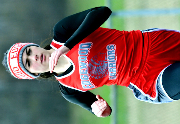 WARREN DILLAWAY / Star Beacon<br /> SARAH STELL runs the 400 meters on Saturday during the Pymatuning Valley Invitational in Andover Township.